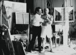 michele sapone e pablo picasso - cannes villa la californie - luglio 1956 - villers