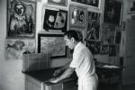 michele sapone nel suo atelier nizza 14 rue chateauneuf