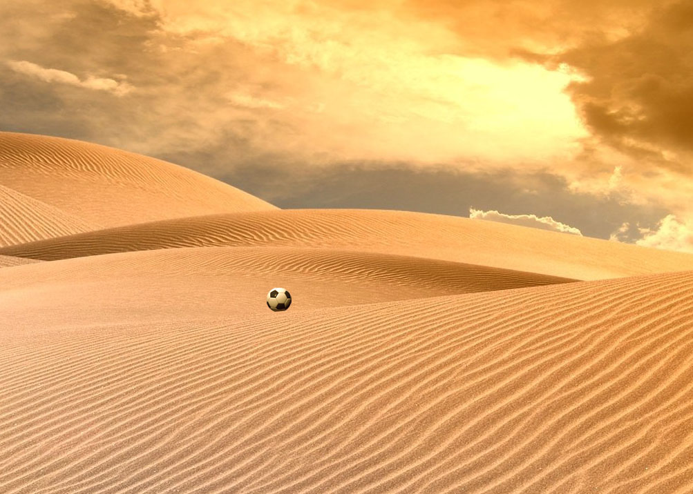 pallone nel deserto